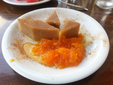 semolina halva with carrot sweet preserve